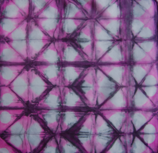 shibori squares using colorhue dyes