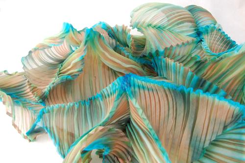 silk shibori organza