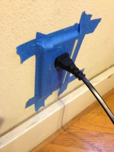 taped up the outlet!