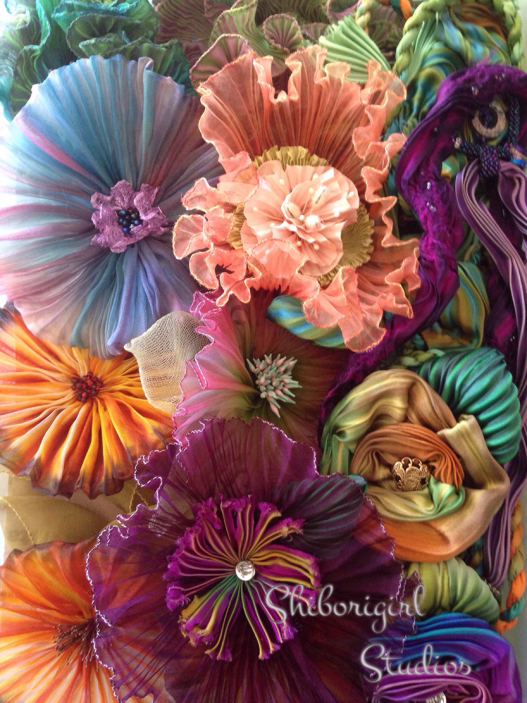 Silk Shibori Ribbon Flowers Shibori Girl