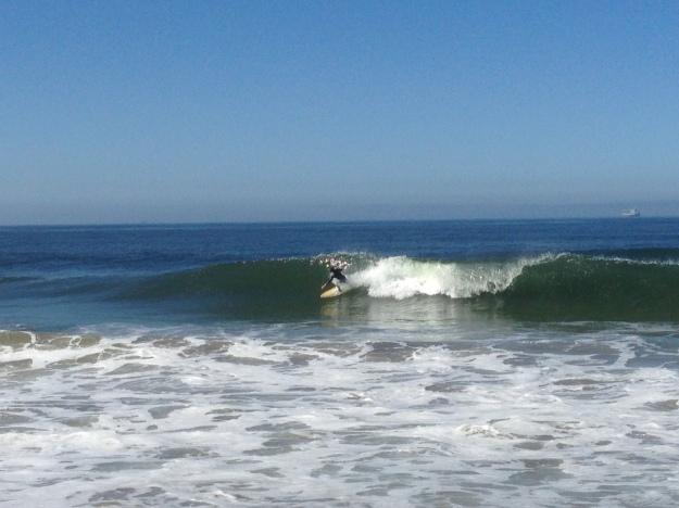 trevor surfs