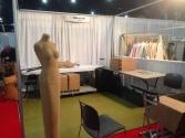 booth set up begins