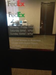 fedex- always needed!