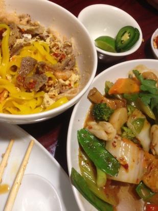 Vietnamese food at Huynm