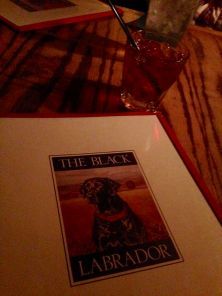 at the Black Lab- comfort food and a cocktail-an after packout tradition